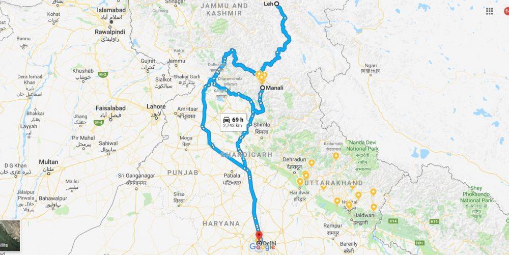 Delhi-Manali-Leh-Delhi