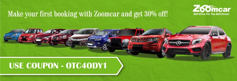 Get 30% Discount on Self Drive Car Rentals from Zoomcar