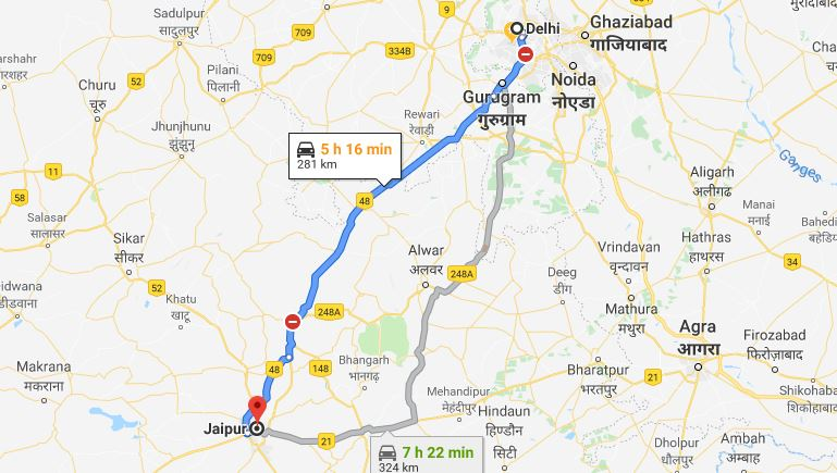 Best Route to Reach Jaipur from Delhi
